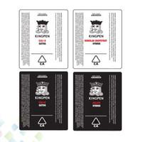 siyah beyaz atomizer toptan satış-Kingpen Sticker Vape Kartuşları Tankı Atomizer Lezzet Çıkartmalar Siyah Beyaz 2 Renkler Wrap Fit Kral Kalem Tüp DHL Ücretsiz