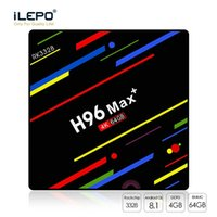Wholesale android tv box 4gb online - H96 Max Plus GB GB Android TV Box RK3328 K Smart Streaming Media Player Support G G Dual Band Wifi Better MX10 S8 Max
