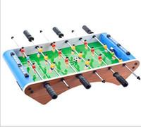 conjunto de mini-mesa venda por atacado-Mini Futebol Futebol Mesa Seis-bar Portátil Jogo de Futebol de Mesa Set Bolas Score Keeper Para Adultos Crianças DDA256