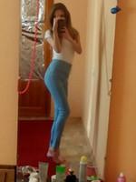 frauen s druck elastische jeans großhandel-Art- und Weisefrauen-Jeans-neuer Frühlings-und Herbst-Druck zerrissene gewaschene dünne Jeans-Weinlese-elastische gemalte Denim-Hosen keucht en gros