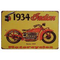 ingrosso segno indiano dell'annata-Indian Motorcycles Vintage Segni in metallo Home Decor Cafe Bar Decorazione Pub Decorativo in metallo Wall Art Targa in metallo Retro 20x30cm