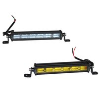 Wholesale amber fog lights for sale - 7inch W Slim Mini LED Light Bar Single Row Work Lights For Off road Trucks X4 Boat Auto DRL Fog lamp Bulbs Amber