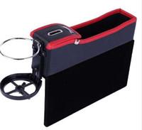 kartenhalterregale groihandel-Auto Seat Lücke Aufbewahrungsbox Retractable Modus Halterung für Getränke Racks Handys Zigaretten Visitenkarten Schlüssel Auto Cup Holder