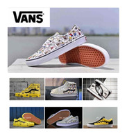Wholesale cartoon sneakers - 2018 VANS X PEANUTS Snoopy Cartoon Womens Casual Shoes, Original Old Skool Vans Skateboard Sport Sneakers Eur 36-44