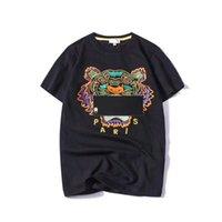 ingrosso abbigliamento per l'estate-Estate Designer T Shirt Uomo Top Tigre Testa Lettera Ricamo T Shirt Mens Abbigliamento Marca manica corta Tshirt Donna Top S-2XL