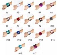 ingrosso vendita delle sirene di fascini-Vendita calda 17 stili Mermaid Sequin Bracelet Wristband Fashion Women Girls Fascino Jewelry Wedding Wristband del braccialetto