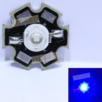 ingrosso epistar 45mil ha portato-5 10 20 50 100pcs 1w 30mil 3w 45mil EPISTARS Royal Blue 445nm Blu 460nm LED lampadina pianta coltiva la lampada con 20mm o 16mm Piatti