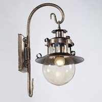 Wholesale vintage bubble light lamp - Vintage Bubble Glass Living Room Wall Sconces Pastoral Creative Bedroom Bedsides Wall Lamp Balcony Hallway Wall Lights