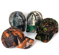 boné de homens de moda do exército venda por atacado-Moda Exército Boné de Beisebol Camuflagem Folhas Snapback Hip Hop Chapéu Das Mulheres Dos Homens Ajustável Ao Ar Livre Caça Pesca Caps B-1084
