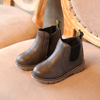 boy boots sale NZ - Hot SALE Children Shoes Boys Boots Autumn Winter Fashion Boys Gentleman Shoes Kids Leather Girls Martin Boots Size 21-36