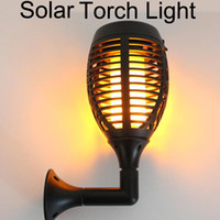 dekorative leds großhandel-Solar Tiki Taschenlampen LED Garten Wasserdichte Hoflampe Tanzen Flamme Flackern 96 LEDs Dekorative Lichter IP65