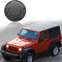 Wholesale High Quality Black Car Styling Alloy Car Fuel Tank Cover Fuel Cap Gas Tank Cap for Jeep Wrangler JK JKU Unlimited Rubicon Sahara