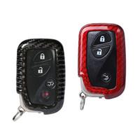 lexus schlüsselkastenabdeckung großhandel-Echt Carbon Fiber Auto Schlüsselabdeckung Für Lexus CT200H GX400 GX460 IS250 IS300C RX270 ES240 ES350 GS300 Schlüssel Shell Fall