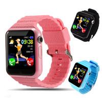 kız gp toptan satış-Orijinal v7k gps bluetooth smart watch çocuklar oğlan kız apple android telefon için destek sim / tf arama çağrı ve itme d1 ...