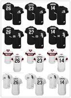 Wholesale robin baseball - custom Men's women youth Majestic white Sox Jersey #23 Robin Ventura 14 Paul Konerko 26 Avisail Garcia Home Black Kids Baseball Jerseys