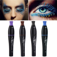 Wholesale Cosplay Makeup - Colored Mascara Waterproof Lengthening Thick Curly Mascara Makeup Cosplay Stage Theater Colorful No Blooming Pro Makeup For Eye