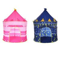 ingrosso gioca ragazzo caldo-Tenda da gioco a caldo Tende pieghevoli portatili Prince Tenda pieghevole per bambini Boy Castle Cubby Play House Regali per bambini Tende da campeggio per bambini