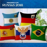 auto welt großhandel-Russland World Cup Nationalmannschaft Embleme Kissen Fall Kopf Kissenbezug Kissen Fällen Gesicht Kissenbezüge Startseite Sofa Auto Decor T1I329