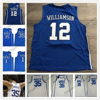 Wholesale Collar Sleeveless - Duke Blue Devils #12 Zion Williamson Duval Bagley Royal Blue White Round Collar Stitched 2018 NCAA College Basketball cheap Jerseys S-3XL