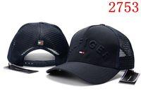 baseball hats navy blue venda por atacado-Nova moda de alta qualidade chapéu de malha 6 painel de boné de beisebol chapéus ajustáveis para homens mulheres snabpack Preto vermelho azul marinho hip hop cap