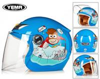 Wholesale child motorcycle helmet - High-grade children half face kids motorcycle and bicycle helmet children warm winter helmet 206