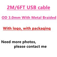 Wholesale quick rock - 100pcs OD mm m ft USB Data Sync Charger Original Quality Cable With metal braid For i S plus with retail package