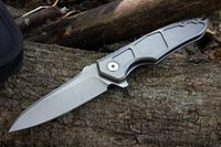 Wholesale Folding Hunter Knife - hunter S35VN blade 100% titanium alloy handle ball bearing system folding knife pocket knife xmas gift for man 1pcs