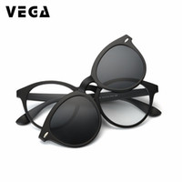 klipler güneş gözlüğü toptan satış-VEGA Polarized Clip On Sunglasses For Eye Glasses Frames Eyeglasses With Clip On Sunglasses Magnetic Glasses Men Women 956