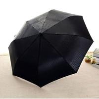 paraguas de madera blanco mango al por mayor-Alta calidad resistente imitación de cuero paraguas lluvia mujeres automático de lujo ancho a prueba de viento hombres de negocios para coche paraguas