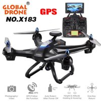 Wholesale Hold Camera - Global Drone X183 V2 Quadcopter WiFi FPV 1080P Cam GPS Altitude Hold Helicopter