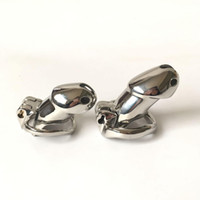 Wholesale chastity devices for men - New Chastity Cage Stainless Steel Chastity Devices For BDSM Handmade HT Metal Version Non-Welded Cock Cage For Men