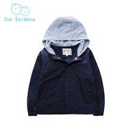 ingrosso giacca invernale gialla per bambini-Zoe Saldana 2018 Baby Black Giallo Autunno Inverno Abbigliamento Bambini Sport Capispalla Kids Coat Cappotto per ragazzi