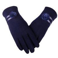 Wholesale brown driving gloves - 2017 Autumn Winter Gloves Women Touch Screen Soft Lining Warm Wool Mittens Female Outdoor Driving Gloves Women AGB621