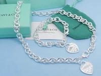 schlüsselring 925 großhandel-(Armbänder + Halsketten) Victoria Key Anhänger Love Lock Charm Silber 925 Anhänger Halsketten Armbänder Ringe Charme