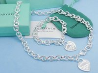 anillo de bloqueo 925 al por mayor-(Pulseras + Collares) Victoria Key Colgante Love Lock Charm plata 925 Collares pendientes Pulseras Anillos Charm