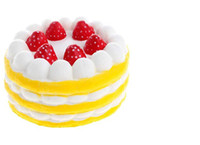 Wholesale toys cake for children resale online - Squishy Cake Strawberry Perfume Cream Yellow Red Coffee Blue Fidget Toy Jumbo Decor Slow Rising Squishies for children kids Gift