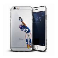 pomme de foot achat en gros de-Cool personnaliser tpu football américain footbal cas de téléphone pour iphone 8 8 plus 7 7 plus 6 s 6 plus