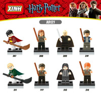 Wholesale New Superhero Harry Potter Ron Malfos Rep Professor Avengers Building Blocks Toy Building Bricks Children s Toys X0121