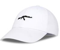 arma da tampa da máquina venda por atacado-Hot metralhadora pistola AK47 boné de beisebol moda masculina chapéu de sol