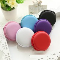 Wholesale storage for purses online - Round Storage Box Data Line USB Ear Phone Coin Purse Portable Case For Hand Spinners Container Practical hx D R