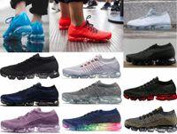 Wholesale rainbow ship - hotsale Rainbow VaporMax 2018 BE TRUE Shock Kids Running Shoes Fashion black Casual Vapor Maxes Sports Shoes free shipping
