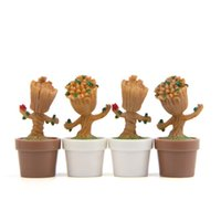 Wholesale mini model kits - Guardians Of The Galaxy Groot Mini Cute Tree Man Model Toy Action Figures Cartoon Garage Kit Landscaping Doll 6 5yr W