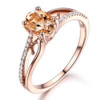 3ct trauringe großhandel-Marke Frauen Rose Gold Gefüllt Hochzeitsband Ring Luxus 3Ct Edelstein Ring Schmuck Für Engagement Geschenk Größe 6-10