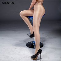 Wholesale acrylic hose online - 70D Women S Sexy Oil Shiny T Crotch Pantyhose Yarns Sexy Tights Hose Dance Fitness Tights Lingerie Collant Femme S4939