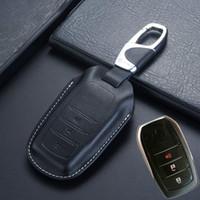 keyless remote fällen großhandel-Keyless Entry Smart Fernschlüsselabdeckung für Toyota 2018 Fortuner Innova Kijang Land Cruiser LC200 4000 4600 5700 Schlüsseletui Halter Zubehör