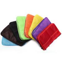 Wholesale green purse organizer insert online - Convenient Colors Multi function Handbag Purse Organizer Insert Phone Cosmetic Bag For Travel Bag