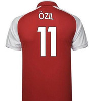 Wholesale Op Shorts - op quality 2017 2018 new Gunners armory OZIL soccer jersey 17 18 ALEXIS WILSHERE GIROUD CHAMBERS XHAKA home football shirt free shipping