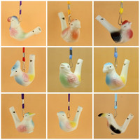 Wholesale Musical Water - Ceramics Water Bird Whistle Simulation Animal Shape Whistles With Rope Musical Toy Hot Sale 1 25mcb C