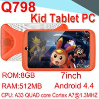 Wholesale Kids Brand Tablet PC inch Quad Core Children Tablet Android Allwinner A33 Google player WIFI Speaker Protective Camera cover CPB