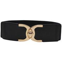 b99d0069bdc8 Mode ceinture élastique pour les femmes serrure en métal extensible ceinture  sangle noir Corset Cinch dames accessoires
